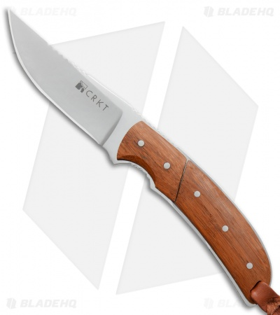 "CRKT Kailyah Kommer Signature Hunter Fixed Blade Bamboo (3.5"" Mirror) 2830"
