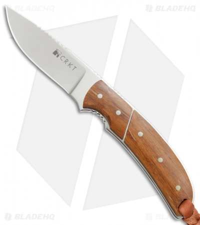 "CRKT Kilbuck Signature Fixed Blade Knife Bamboo (3.3"" Mirror) 2810"