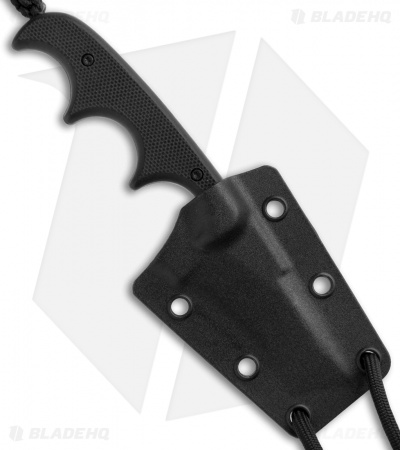 "CRKT Folts Minimalist Bowie Neck Knife Black G-10 (2"" Black) 2387K"