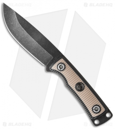 "CRKT Ruger Knives Powder-Keg Fixed Blade Knife (4.6"" Black SW) R1401K"