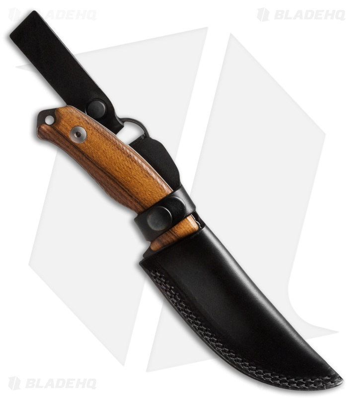 Dendra Russian Bear Fixed Blade Skinner Knife Santos Wood (4 3