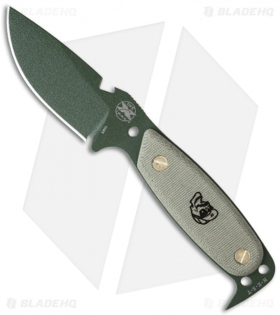 "DPx H.E.S.T. Original Fixed Blade Knife Micarta (3.125"" OD Green)"