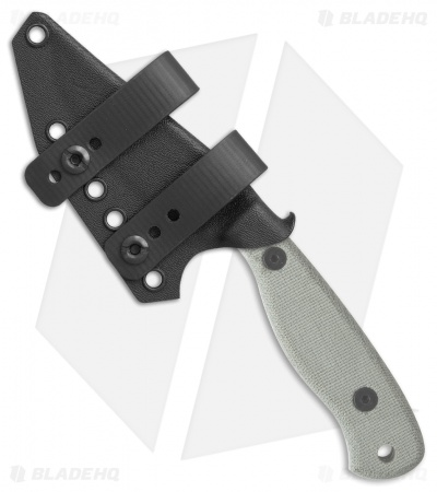 Armatus Carry ESEE Camp Lore JG3 Architect Sheath Flat Black Kydex