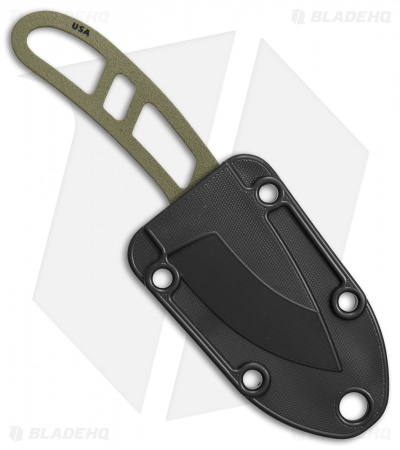 "ESEE Candiru Fixed Blade Neck Knife (2"" Dark Earth)"
