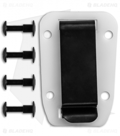 ESEE Knives Clip Plate for Candiru (White/Clear)