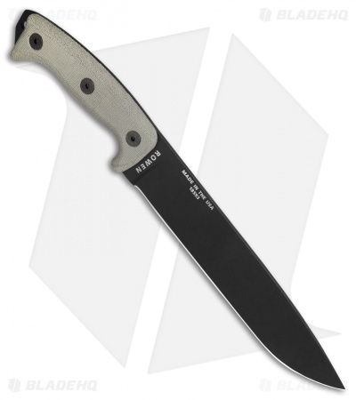 "ESEE Junglas Survival Fixed Blade Knife + Sheath (10.5"" Black)"