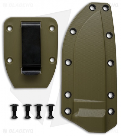 ESEE Knives ESEE-4 Molded Sheath + Clip Plate (OD Green)