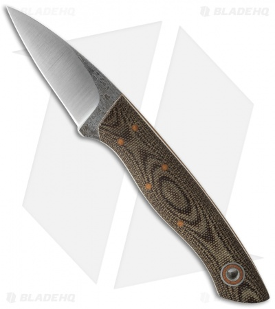 "Fiddleback Forge Bushcraft Karda Knife OD Camo Micarta (2.625"" Satin)"