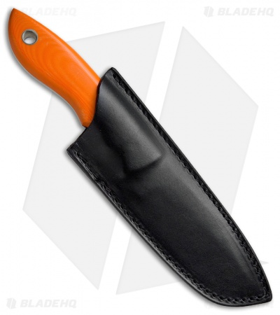 "Fox Knives Vox Njall Fixed Blade Knife Orange G-10 (4.25"" Satin) FX-511 OR"