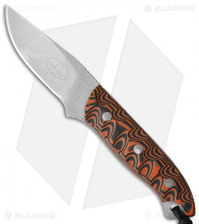 "Hazen Knives Medium 1095 Series Fixed Blade Knife Orange (3.5"" Tumbled) 2OR"