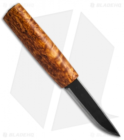 "Helle Knives Saga Siglar Fixed Blade Knife Curly Birch (3.5"" Two-Tone) #102"