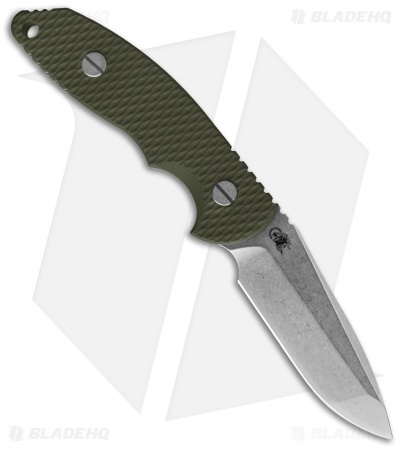 "Hinderer Knives FXM 3.5"" Fixed Blade Spanto Knife Green G-10 *No Sheath"