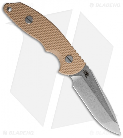 "Hinderer Knives FXM 3.5"" Fixed Blade Spanto Knife Coyote Brown *No Sheath"