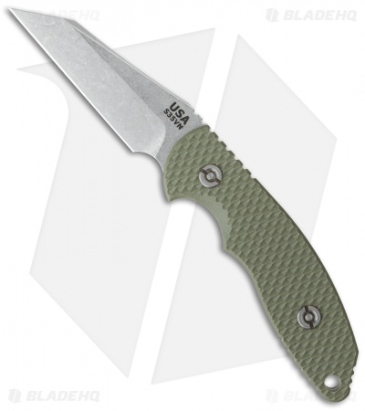 "Hinderer Knives FXM 3.5"" Fixed Blade Wharncliffe Knife OD Green"