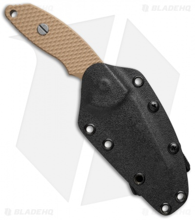 "Hinderer Knives FXM 3.5"" Wharncliffe Fixed Blade Coyote Brown w/ Kydex Sheath"