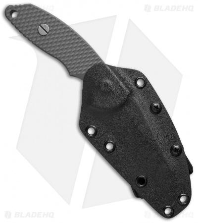 "Hinderer Knives FXM 3.5"" Wharncliffe Fixed Blade Gray G-10 w/ Kydex Sheath"