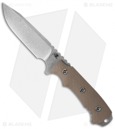 "Hinderer Knives Fieldtac 5.5"" Fixed Blade Knife FDE G-10 (Stonewash)"