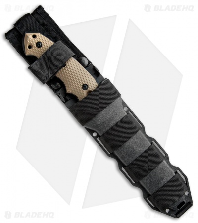 "Hogue Knives EX-F01 Large Tanto Fixed Blade FDE G-10 (7"" Black) 35107"
