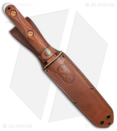 "Ka-Bar John EK 13 Commando Presentation Knife Fixed Blade Walnut (6.6"" Mirror)"