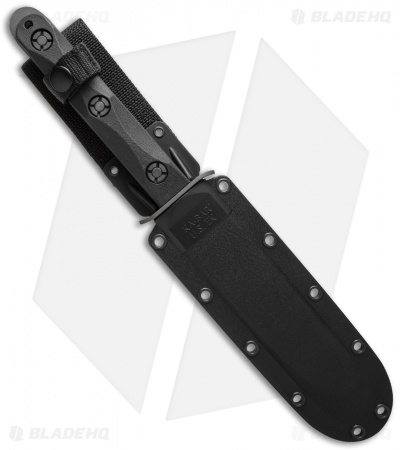 "Ka-Bar John Ek Commando Model 5 Bowie Fighting Knife (7"" Black) EK45"