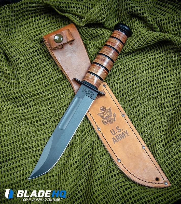 Ka-Bar Short USMC Fighting/Utility Knife Leather Sheath (5 25
