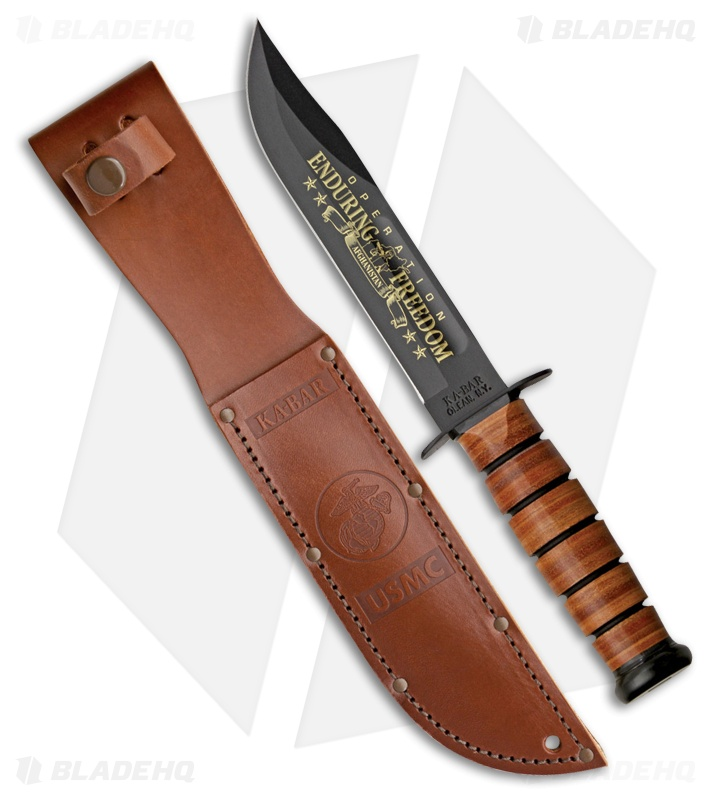 Ka-Bar Bowie Full Size USMC Operation Enduring Freedom Knife (7