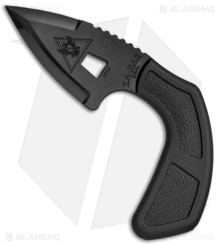 Ka Bar Tdi Shark Bite Fixed Blade Knife 2 6 Black Ultramid 9908