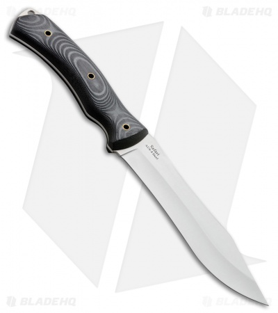 "Kizlyar Supreme Safari Fixed Blade Knife Gray/Black Micarta (6.375"" Satin)"