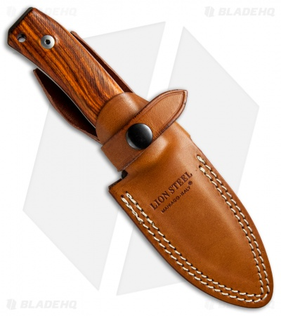 "LionSteel M4 Fixed Blade Knife Cocobolo Wood (3.75"" Satin M390)"