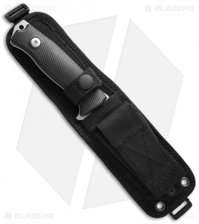 "LionSteel M5 Fixed Blade Knife Black G-10 (4.5"" Satin)"