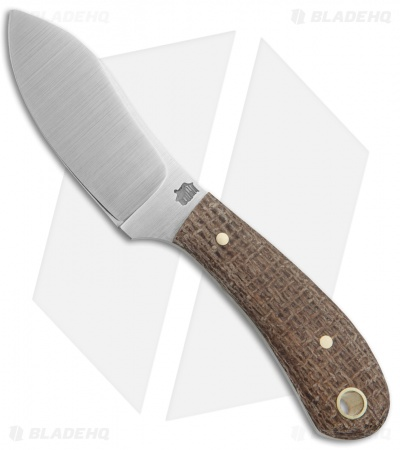 "LT Wright Knives Lil Muk Fixed Blade Burlap Micarta (2.75"" Satin D2)"