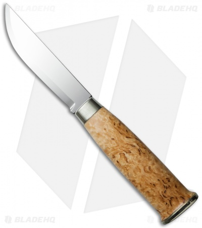 Marttiini Lapinleuku Fixed Blade Knife Curly Birch (Mirror Plain) 230
