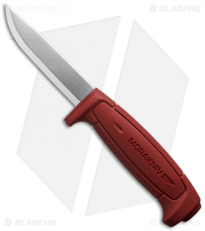 "Morakniv Basic 511 Knife Red (3.625"" Satin) 12147 Sweden"