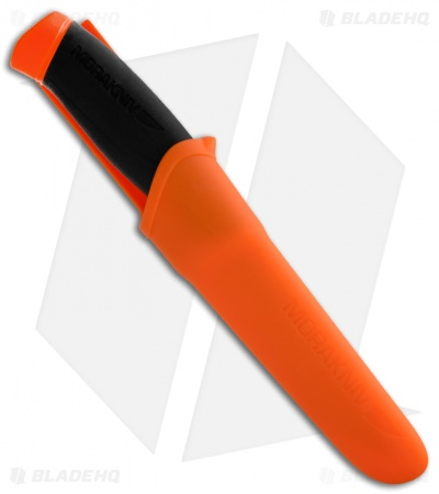 "Morakniv Companion F Knife Black/Orange Handle (4"" Satin Serr)"