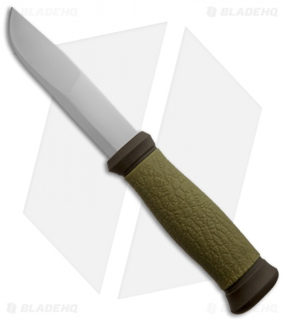 "Morakniv Outdoor 2000 Fixed Blade Knife (4.25"" Satin Plain) Olive"