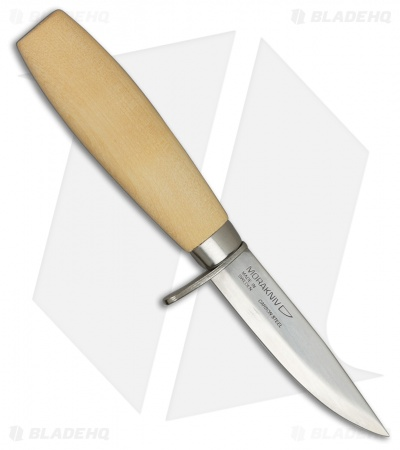"Morakniv Woodcarving Jr Fixed Blade Knife Birch Wood (3"" Satin)"