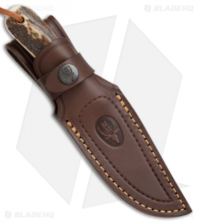 "Muela Bison Fixed Blade Knife Stag Horn (3.5"" Satin)"