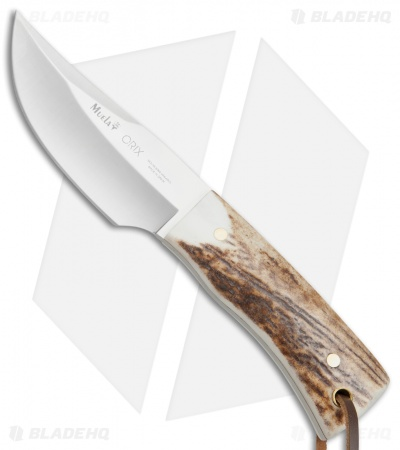 "Muela Orix Fixed Blade Knife Stag Horn (3.375"" Satin)"