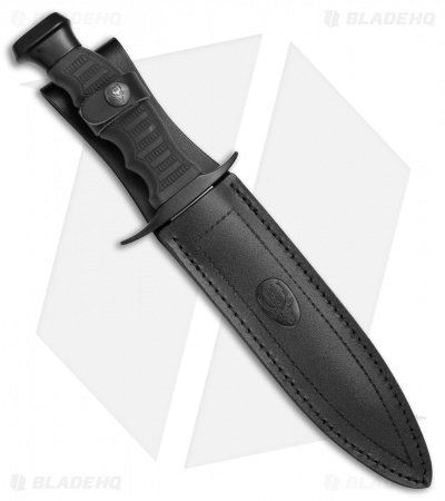 "Muela Tactical Fixed Blade Knife Black Rubber (7.5"" Satin)"