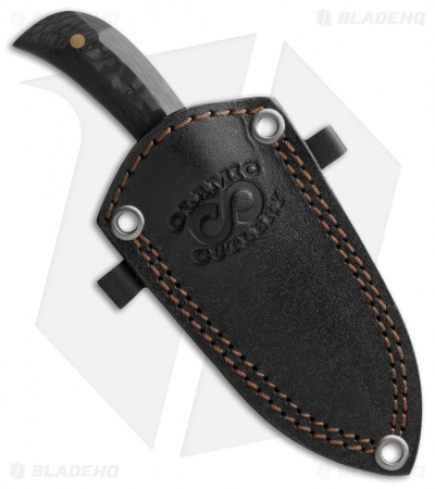 "Olamic Cutlery Persian Neck Knife Carbon Fiber (2.75"" Damascus)"