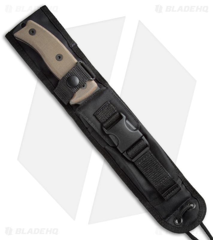 "Ontario Rat 5 Tan Handle W Sheath: Ontario OKC RAT-7 Fixed Blade Knife (7"" Black Serr)"