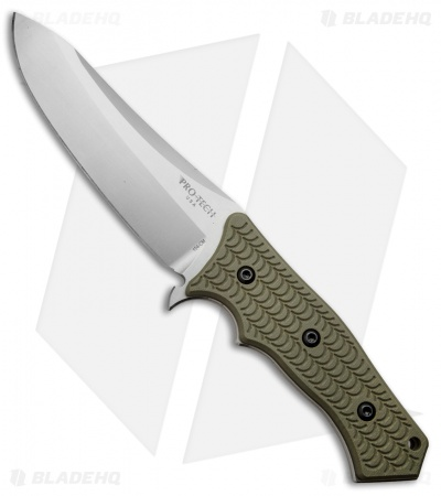 "Protech Elishewitz Spindrift Prototype Fixed Blade Knife OD Green G-10 (5.5"" SW)"