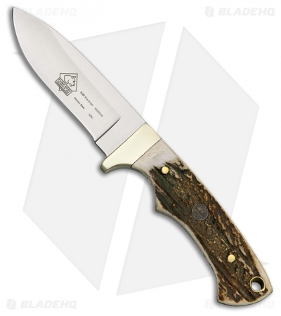 "Puma SGB Blacktail Fixed Blade Knife Stag (3.25"" Satin) 6530040"