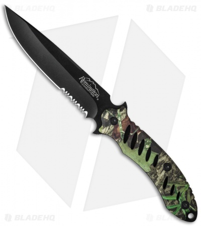 "Remington Sportsman FAST Fixed Blade Knife Camo (5.5"" Black Serr) 19786"