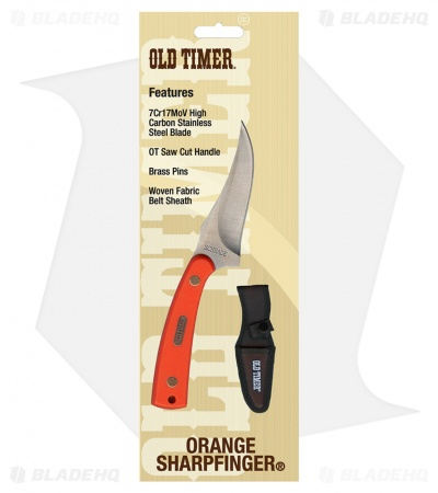 "Schrade Old Timer Sharpfinger Hunting Knife Orange (3.25"" Satin) 2017"