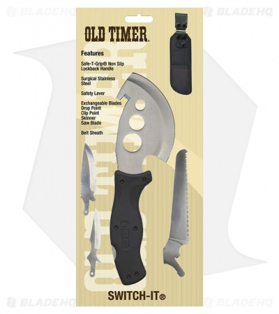 Schrade Old Timer Switch-It Exchangeable Blade Knife (4 Piece) 2017
