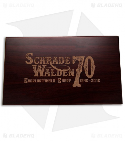 "Schrade Walden 70th Anniversary Limited Edition Fixed Blade Knife (4"" Satin)"