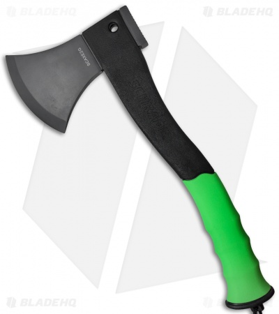 "Schrade 12"" Axe Green w/ Fire Striker SCAXE2G"