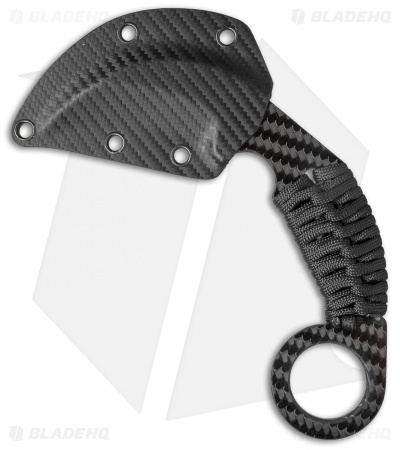 "Schwartz Tactical Vengeance Karambit Fixed Blade Knife CF (2.75"" CF/Ti)"