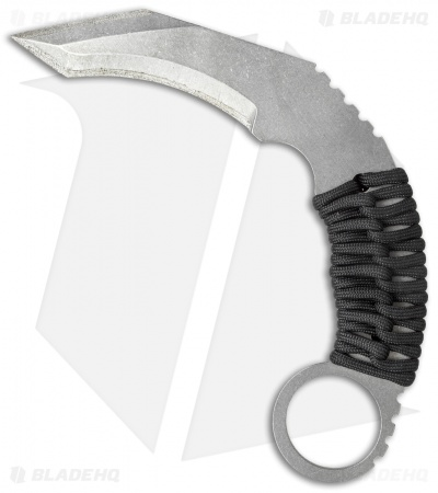 "Schwartz Tactical Spartan Karambit Fixed Blade Knife (3.375"" Stonewash)"